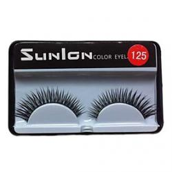 Cheap 1 Pair Black Machine Made False Eyelashes SL125