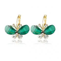 Low Price on New Korean jewelry wholesale super delicate butterfly earrings crystal earrings batch(random color)
