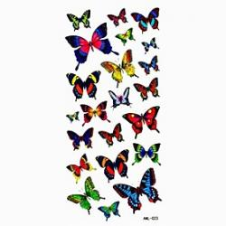 Low Price on Waterproof Lovely Butterfly Temporary Tattoo Sticker Tattoos Sample Mold for Body Art(18.5cm8.5cm)