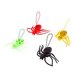 Cheap Spider Shaped Soft Rubber Toy(Random Color)