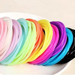 Cheap Transparent Hygienic Elastic Rubber Hair Band(Random Color)