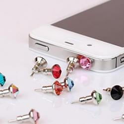 Cheap Toophone JOYLAND 3.5mm Tower Crystal Metal BisonFone and Anti-dust Plug for iPhone and Samsung (Random Color)