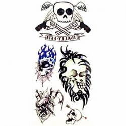 Cheap 1pc Gun Arrow Skull Waterproof Tattoo Sample Mold Temporary Tattoos Sticker for Body Art(18.5cm8.5cm)