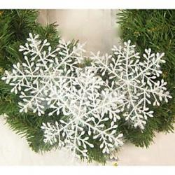 Cheap 6PCS Around the Wire Plastics Christmas Snowflake