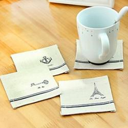 Cheap Quadrate Shaped  Linen Placemat (1pcs)