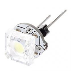 Cheap G4 0.5W 12LM 6000K Cool White Light LED Bulb for Car (12V)