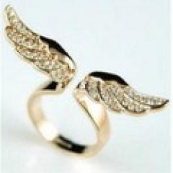 Cheap 17mm size Fashion Exquisite Rhinestone angel wing Ring Jewelry for women XY-R81 17mm size