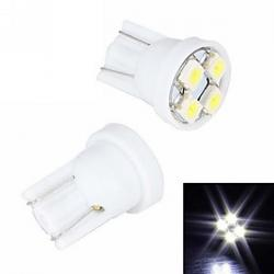 Cheap Merdia 4W 110LM T10 4x3528SMD LED White Light License Plate Light / Instrument Lamp(2 PCS/12V)