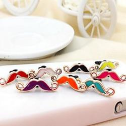 Cheap Moustache Shaped Oil Drop Alloy Anti-dust Plug(Random Color)