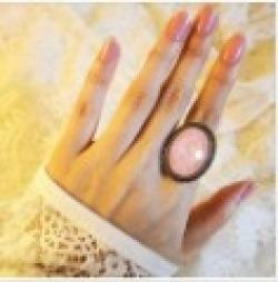 Cheap Fashion Hot Sale New Arrival Retro Pink Color Ellipse Ring  R37