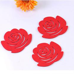 Cheap Rose Pattern Cup Mat (1 PCS)