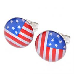 Low Price on The Old Glory Stainless Steel Earrings