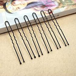 Cheap Fashion Simple U Shape Black Alloy Hairpins(1 Pc)
