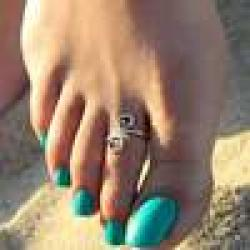Cheap Women Lady Unique Retro Silver Plated Nice Toe Ring Foot Beach Jewelry Hot