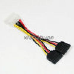 Cheap IDE to 2 Serial SATA ATA Splitter Power Adapter Cable