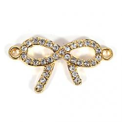 Cheap Rhinestone Bowknot DIY Charms Pendants for Bracelet  Necklace