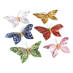 Cheap Decorative Beautiful Magnetic Butterfly (Random Colors)