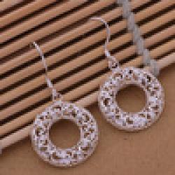 Cheap Min.Order 15$ Mix Order Cheapest Sale Fashion Sterling silver 925 plated Drop Earrings Loop Factory Price 2pcs/lot