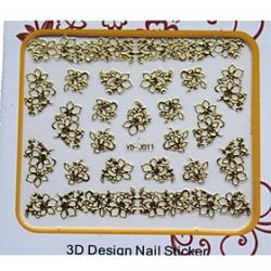 Cheap Newest Golden Metal Art Nail Manicure Stickers Decoration For Nails Toe DIY