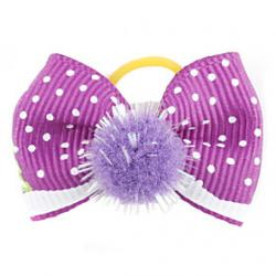 Cheap Pompon Chirstmas Style Tiny Rubber Band Hair Bow for Dogs Cats(Assorted Color)