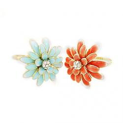Korean jewelry cute little daisy chrysanthemums Enamel Ring Ring (random color) Sale
