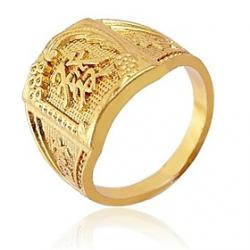 Cheap Chinese Characters Meaning Fortune Gold Rings