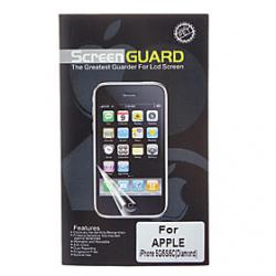 Cheap Professional Shimmering Diamond Designed LCD Screen Guard with Cleaning Cloth for iPhone 5/5S/5C