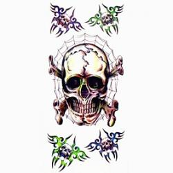 Cheap 1pc Spider Skull Waterproof Tattoo Sample Mold Temporary Tattoos Sticker for Body Art(18.5cm8.5cm)