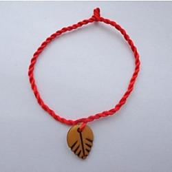 Low Price on Chinese Red Leaves Symbol of Peace and Prosperity for the Classic Red Rope Bracelet