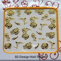 Cheap Fashion Self Adhensive Art Nails Stickers With Rose Pattern Decent Gift