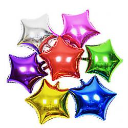 Cheap 10 Inch Star Aluminium Membrane Baby Shower Birthday Party Balloon