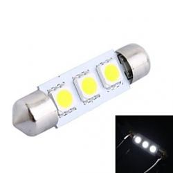 Cheap 39mm 0.6W 50LM 6000K 3x5050 SMD White LED for Car Reading/License Plate/Door Lamp (DC12V, 1Pcs)