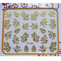 Cheap Quality 3D Flower and Left Pattern Nails Art Stickers For Nail Salon Professional