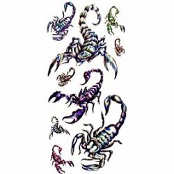Cheap 1pc Big Scorpion Waterproof Tattoo Sample Mold Temporary Tattoos Sticker for Body Art(18.5cm8.5cm)