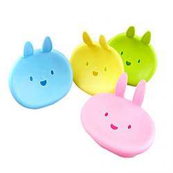 Cheap Cute Cartoon Rabbit Soap Box(Random Colors)