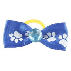 Cheap Dog Paw Pattern Tiny Rubber Band Hair Bow for Dogs Cats(Assorted Color)