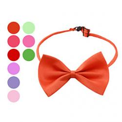 Cheap Elegant Adjustable Bowtie Collar Necklace for Dogs (Random Colors)