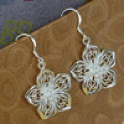 Cheap E035 Wholesale 925 silver earrings, 925 silver fashion jewelry, Flower Earrings /aymajptash