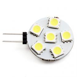 Cheap G4 1W 6x5050SMD 50LM 2700K Natural White Light LED Spot Bulb (12V)