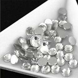 Cheap 3-3.2mm (White) Flat Back Rhinestones (Phone Beauty) Nail bedazzle 100 pieces