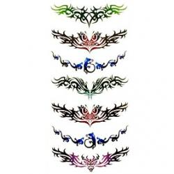 Cheap 1pc Totem Style Butterfly Waterproof Tattoo Sample Mold Temporary Tattoos Sticker for Body Art(18.5cm8.5cm)