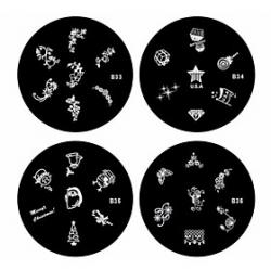 Cheap 1PCS Nail Art Stamp Stamping Image Template Plate B Series NO.33-36(Assorted Pattern)