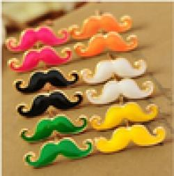Cheap ER173  European and American jewelry cute sexy retro mustache earrings Free Shipping