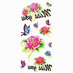 Cheap 1pc Butterfly Flower Waterproof Tattoo Sample Mold Temporary Tattoos Sticker for Body Art(18.5cm8.5cm)