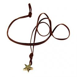 Low Price on Punk metal pentagram necklace long velvet rope N383