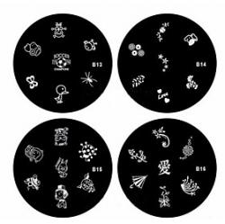 Cheap 1PCS Nail Art Stamp Stamping Image Template Plate B Series NO.13-16(Assorted Pattern)