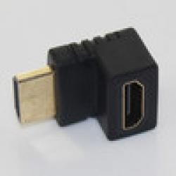Low Price on Black HDMI Male to Female 270 Degree Right Angle Adapter converter Golden plated