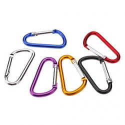 Cheap Small D Shaped Aluminum Alloy Carabiner(Assorted Colors)