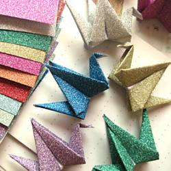 Cheap Flash Powder Papercranes Origami Materials(12 Pieces/Bag)