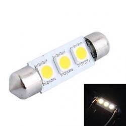 Cheap 39mm 0.6W 50LM 3000K 3x5050 SMD Warm White LED for Car Reading/License Plate/Door Lamp (DC12V, 1Pcs)